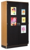 Diversified Woodcrafts Canvas Door Display Cabinet