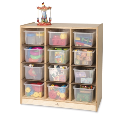 12-Cubby Storage Cabinet (Plastic bins not included)