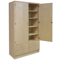 Hann Tall Storage Cabinet with Drawers