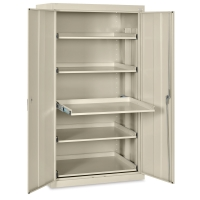 Pull-Out Shelf Storage Cabinet, Putty