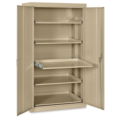 Pull-Out Shelf Storage Cabinet, Tropical Sand