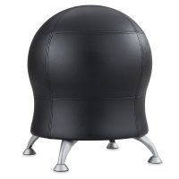 Safco Zenergy Ball Chair, Black Vinyl