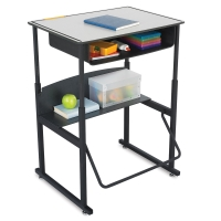 Stand-Up Desk, Premium Top with Book Box(Supplies not included)
