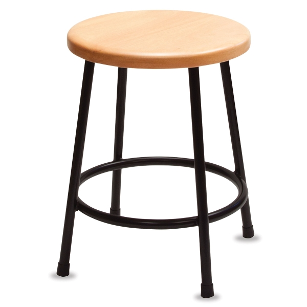 Lyptus and Steel Stool, 18""
