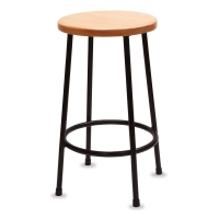 Lyptus and Steel Stool, 24""