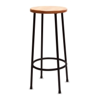 Lyptus and Steel Stool, 30""