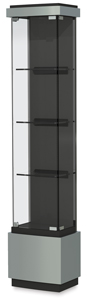 "Quantum Series Display Case, Silver, 16"" W"