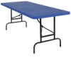 National Public Seating Corp. Adjustable Height Folding Table