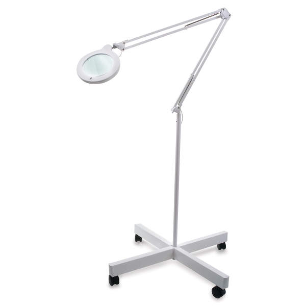 """LED Magnifying Lamp with 5"""" Lens and Wheelbase"""