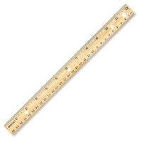 Hole-Punched Wooden Ruler