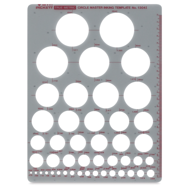 Chartpak Pickett Circle Templates - Blick Art Materials