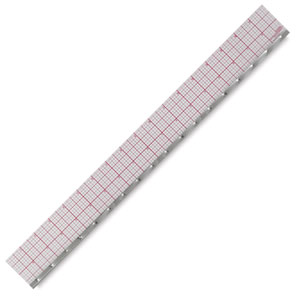 8ths Graph Beveled Ruler (Matted), 18""