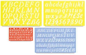 Italic Style Lettering Guide Value Pack