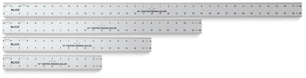 Center Finding Rulers