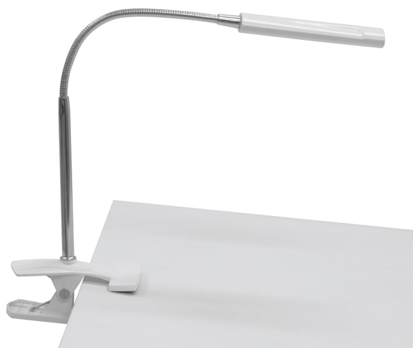 Art Clamp Lamp, White