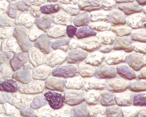 Example of painted Stone Wall, 1:35 Scale