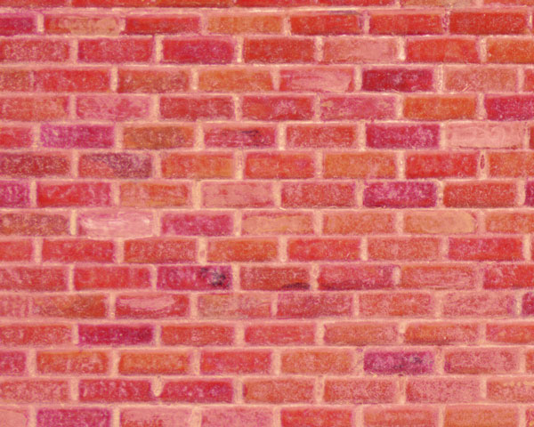 Example of painted Brick, Rough, 1:24 Scale