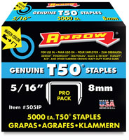 Arrow T-50 Staples