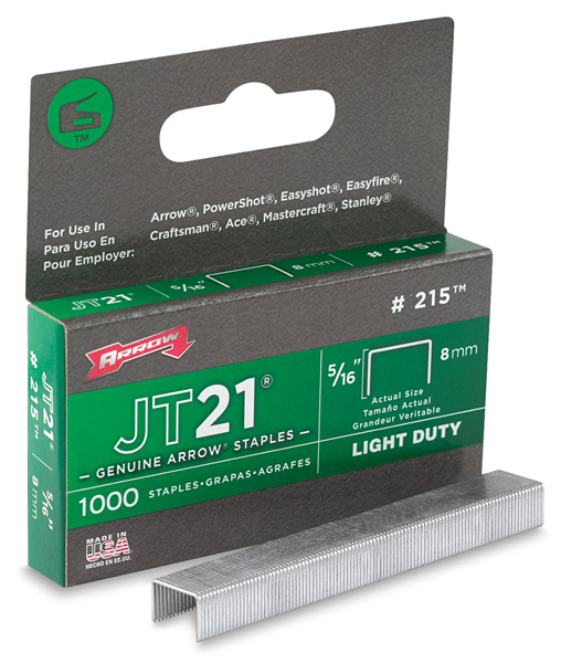 Arrow JT21 Staples, Box of 1000
