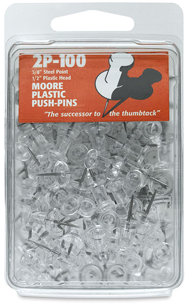 Clear Plastic Push Pins, Pkg of 100