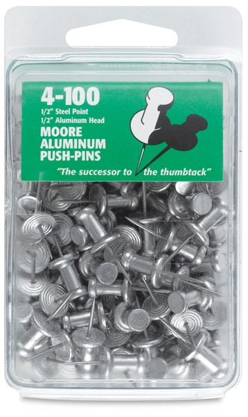 Aluminum Push Pins, Pkg of 100