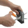Desktop Scissors Sharpener, In Use