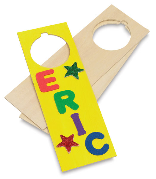 Wood Door Hanger, Pack of 6