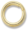 Split Jump Ring, Gold Finish