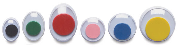 Multicolor Round/Oval, Pkg of 100