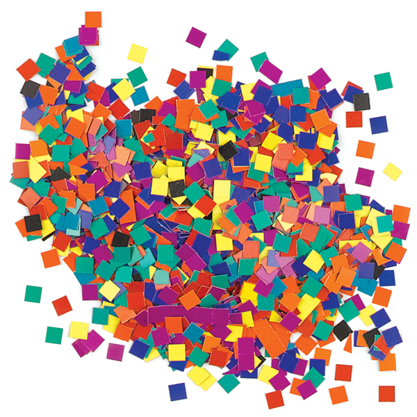 Assorted Color Mosaic Squares, Box of Approximately 10,000