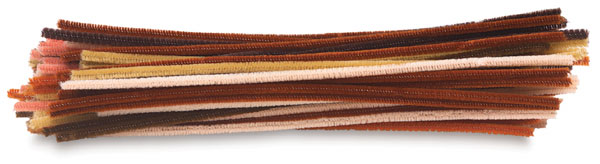 Chenille Kraft Stems in Multicultural Colors