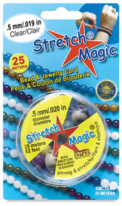 Stretch Magic Jewelry Cord, Clear, 0.5 mm