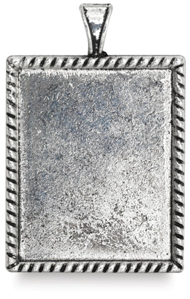 Antique Silver Rectangle, Front