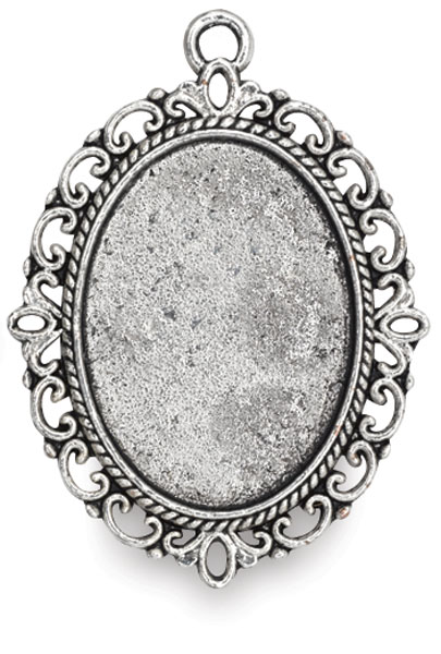 Antique Silver Oval, Front