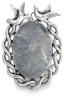 Antique Silver Birds Oval, Front