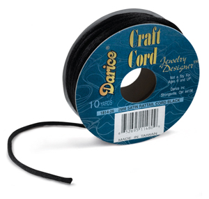 Satin Jewelry Cord, Black