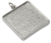 Square Metal Pendant