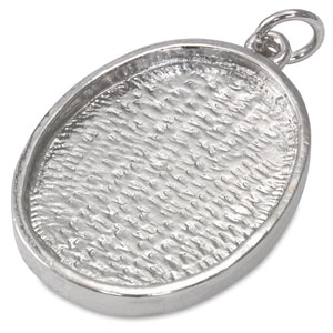 Oval Metal Pendant