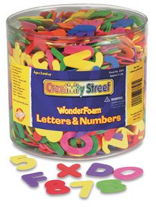 Wonderfoam Letters & Numbers, 1/2 lb Tub