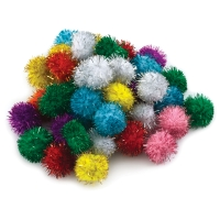 Glitter Poms, Pack of 40