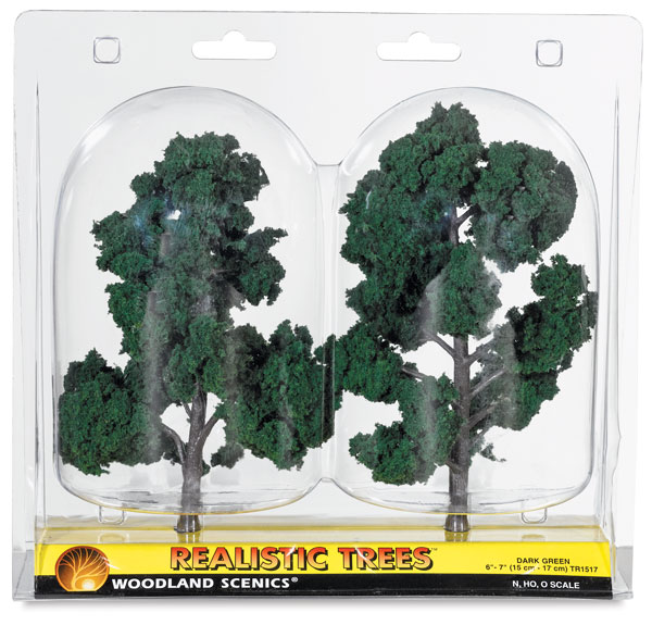 "Ready Made Trees, Dark Green, 6"" – 7"""