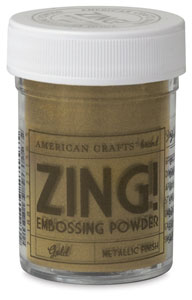 Embossing Powder, Metallic Gold