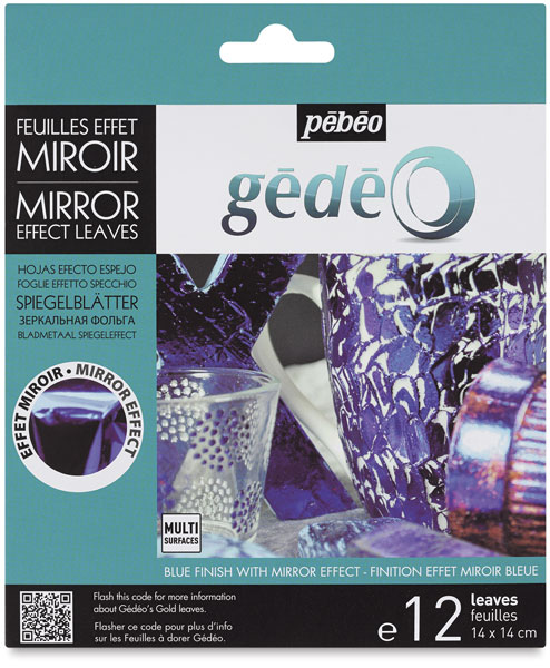Gedeo Mirror Effect Metal Leaves, Blue
