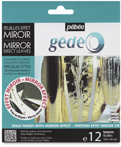 Gedeo Mirror Effect Metal Leaves, Gold