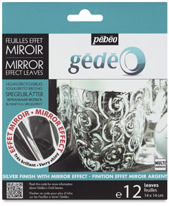 Gedeo Mirror Effect Metal Leaves, Silver