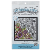 Zenbroidery Stamped Embroidery Kit, Floral