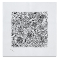 Zenbroidery Stamped Embroidery Kit, Floral (Embellishment Materials Sold Separately)