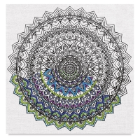 Zenbroidery Stamped Embroidery Kit, Mandala (Embellishment Materials Sold Separately)