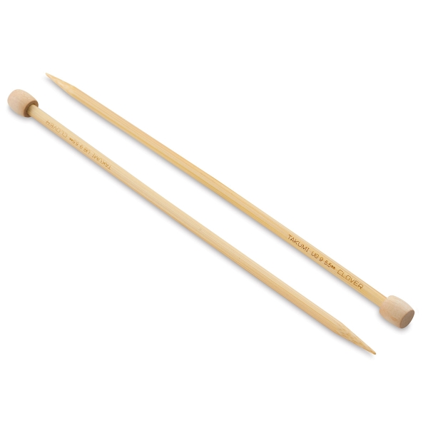 Takumi Bamboo Straight Knitting Needles, Size 9
