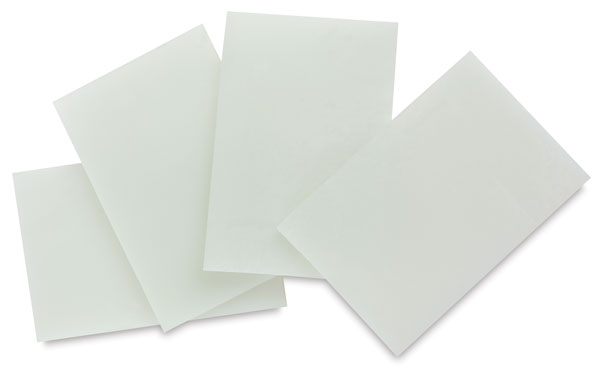 White Opalescent Glass, Pkg of 4